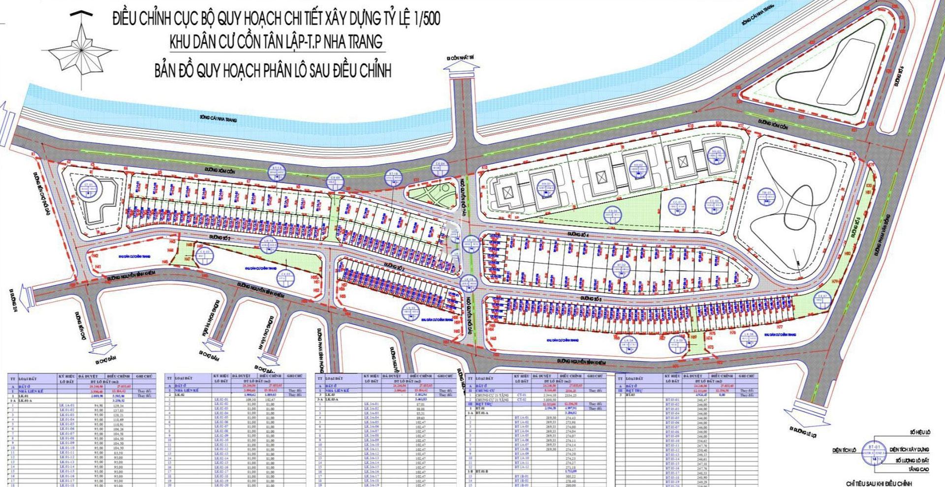 Quy hoạch Tổng thể Căn hộ The Aston Nha Trang trong Khu đô thị Cồn Tân Lập