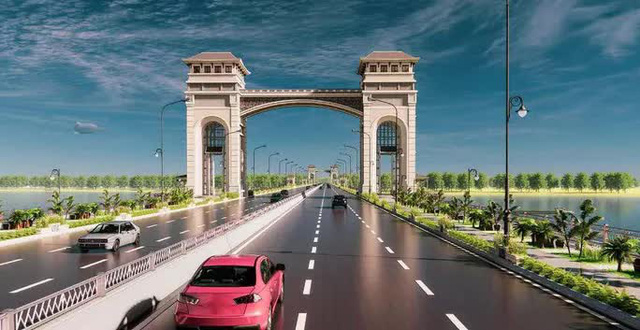 Cận cảnh phong cách Đông Dương cầu Trần Hưng Đạo gần 9.000 tỉ đồng  - Ảnh 3.
