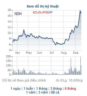NSH vẫn duy trì giao dịch vùng giá cao, Chủ tịch HĐQT Nhôm Sông Hồng đăng ký mua lượng lớn cổ phiếu - Ảnh 1.